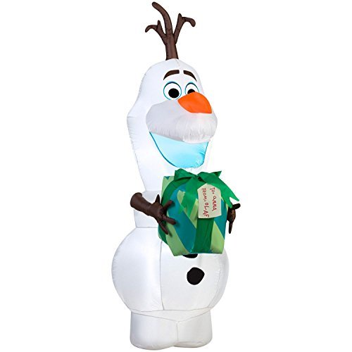 Airblown 5.5-Foot Disney Frozen Olaf  Self-Inflatable Yard Decor