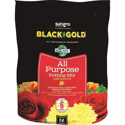 Black Gold 1310102 8-Quart All Purpose Potting Soil With Control