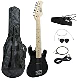 ZENY 30'' Electric Guitar Set Beginner Kits for Kids with Gig Bag,Cable,Strap (Black)