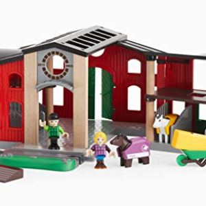BRIO World – 33791 Horse Stable | 12 Piece Toy and Train Accessory for Kids Ages 3 and Up 41WPcovnoaL
