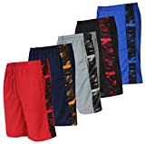 Men's Mesh Active Wear Athletic Basketball Essentials Performance Gym Workout Clothes Sport Shorts - Set 4-5 Pack, XL