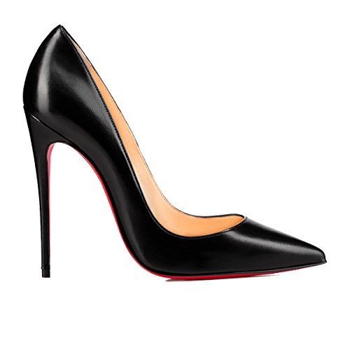 PUMPS CHRISTIAN LOUBOUTIN, LEATHER 100%, color BLACK, Heel 120mm, Leather sole, SO KATE, FW17, product code 3160759BK01 FW17