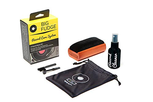 #1 Record Cleaner Kit - Complete 4-in-1 Vinyl Cleaning Solution, Includes Velvet Record Brush, XL Cleaning Liquid, Stylus Brush and Travel Pouch! Will NOT Scratch Your Records!