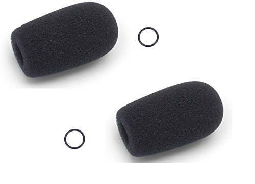 Replacement Aviation Microphone windscreens for Bose, Lightspeed, David Clark, Crystal Mic (Two (2) Pack Standard Model)