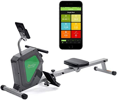 ShareVgo Smart Home Rowing Machine Bluetooth Compact Magnetic Rower with Fitness APP, Max Weight 285lbs Ergometer - SRM2000 1