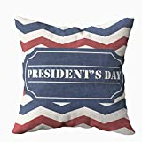Capsceoll Art Pillow Case, American Chevron Pattern Abstract USA Background Day Sale for Presidents 20x20 Pillow Covers,Home Decoration Pillow Cases Zippered Covers Cushion for Sofa Couch