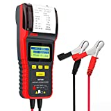 ANCEL BST500 12V/24V 100-2000 CCA Automotive Battery Load Tester, Cranking and Charging System Analyzer Scan Tool with Printer for Heavy Duty Trucks, Cars, Motorcycles and More (Black and Red)