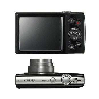 Canon-IXUS-185-ELPH-180-Digital-Camera-Black-with-16-Gb-Memory-Card
