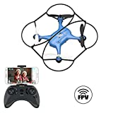 2019 Latest FPV Drones with Camera for Adults/Beginners 720P HD WiFi Real-time Video Feed,2.4GHz 4CH 6-Axis Gyro Quadcopter,Small Drone Easy Fly Fun Gift for Boys Girls(AT-96)