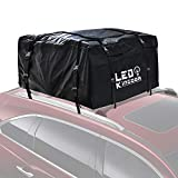 Car Roof Bag, Waterproof Cargo Top Storage Bag, 20 Cubic Feet Heavy Duty Rooftop Bag Vehicle Soft Shell Carrier Bag, Fits All Cars with Roof Rack, 4 Reinfored Straps Included