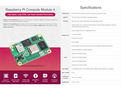 Waveshare-Raspberry-Pi-Compute-Module-4-The-Power-of-Raspberry-Pi-4-in-A-Compact-Form-Factor-1GB-RAM-0GB-Lite-eMMC-Flash-Without-WiFi