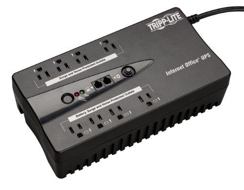 Tripp Lite 600VA UPS Desktop Battery Back Up, 8 Outlet, 300W 120V Standby, Ultra-Compact, USB (INTERNET600U)
