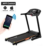 Goplus 2.5HP Folding Treadmill Automatic Incline Jogging Running Fitness Machine with App Control, Large LCD Display (Black Jaguar Ⅴ, Auto-Incline)