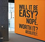 Wallency Inspirational and Motivational Gym Quote Wall Decal - High Quality Removable Vinyl Sticker