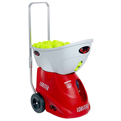 Lobster Sports - Elite Liberty Tennis Ball Machine - Smaller Battery Operated - Lightweight - Full-Featured Tennis Ball Hopper - Random Oscillation - Battery Charger Included - Optional Accessories