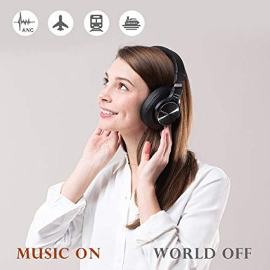 Noise-Cancelling-Headphones-Bluetooth-V50-Wireless40Hours-Playtime-Headsets-Over-Ear-with-MicrophonesFast-ChargeSrhythm-NC75-Pro-for-TVPCCell-Phone-Low-Latency