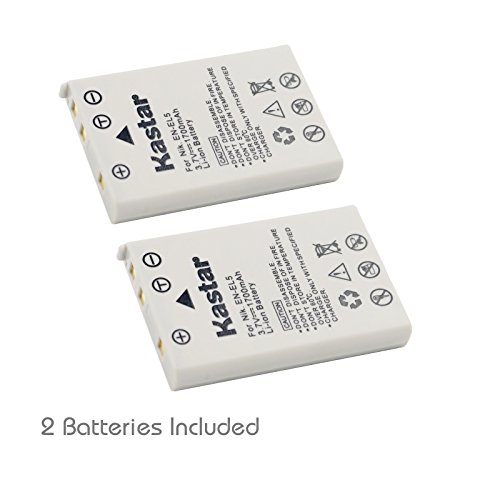Kastar 2 Pack Replacement Battery for Nikon EN-EL5 CP1 and Nikon CoolPix P90 / P100 / 3700 / 4200 / 5200 / 5900 / 7900 / P3 / P4 / P5000 / P5100 / P6000 / P80 / S10 Digital SLR Camera