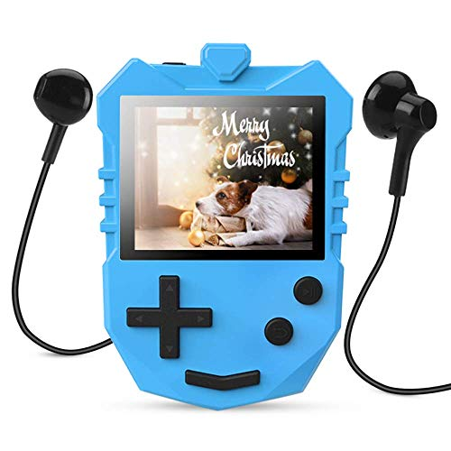 MP3 Player for Kids, AGPTEK K1 Portable 8GB Children Music Player with Built-in Speaker, FM Radio, Voice Recorder, Expandable Up to 128GB, Blue, Upgraded Version