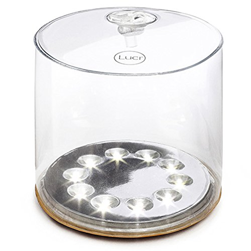 MPOWERD Luci - The Original Inflatable Solar Light, Clear Finish
