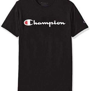 Champion Men's Classic Jersey Script T-Shirt 7 Fashion Online Shop 🆓 Gifts for her Gifts for him womens full figure