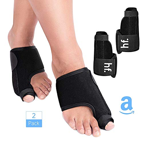 Hexaforms Bunion Corrector and Bunion Relief, Orthopedic Big Toe Straightener, Elastic and Adjustable Bunion Splint, Turf Toe Brace Effective Hallux Valgus Treatment for Women and Men