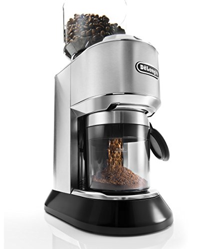 De'Longhi Dedica Conical Burr Grinder with Portafilter Attachment, 6.9 x 11.2 x 18.1 inches, Silver 2
