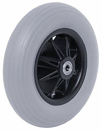 200 X 50 Black Plastic & Grey Powerchair Castor Wheel (Pride Type)