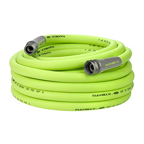 Flexzilla Garden Hose, 5/8 in. x 50 ft., Heavy Duty, Lightweight, Drinking Water Safe - HFZG550YW