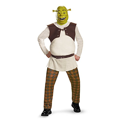 Disguise Men's Shrek Deluxe Adult Costume, Green, X-Large