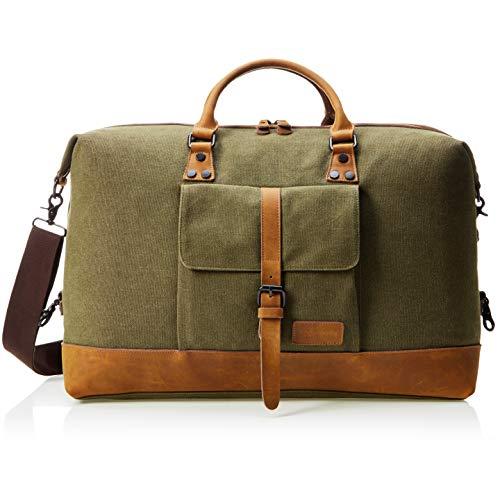 41XAX8TXM2L - AmazonBasics Canvas Travel Duffel Bag, Olive
