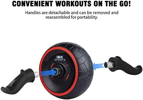 BK Sports Ab Roller Wheel for Abs Workout – Ab Roller Wheel Abdominal Exercise Equipment – Train at Home Like a Professional 2020 New 6