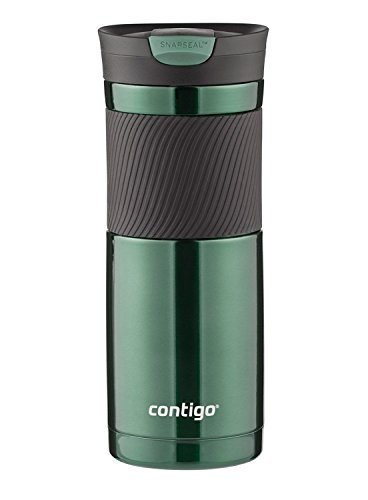 Contigo SnapSeal Byron Vacuum-Insulated Stainless Steel Travel Mug, 20 oz, Greyed Jade