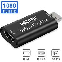 GOODAN Audio Video Capture Cards HDMI to USB 1080p USB2.0 Record via DSLR Camcorder Action Cam for High Definition…
