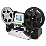 8mm & Super 8 Reels to Digital MovieMaker Film Sanner,Pro Film Digitizer Machine with 2.4' LCD, Black (Film 2 Digital Movie Maker&8mm Film Scanner) with 32 GB SD Card