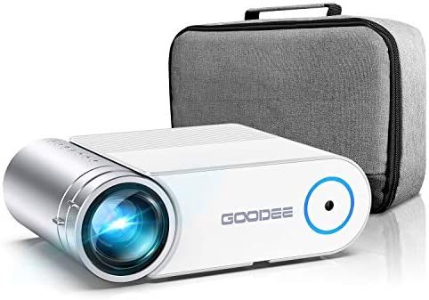 Projector, GooDee 2021 Upgrade G500 Mini Video Projector, 5500L Max 200″ Portable Movie Projector with Carry Bag, Home Theater Projector Support 1080P, Compatible with Fire Stick, PS4, Phone (YG420)