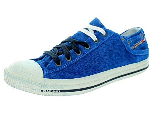 41XLYofjFLL Denim-inspired sneaker with ombre tie-dye upper Contrast stitching Denim-style rivets and logo patch