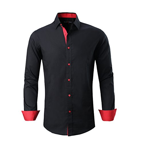 Alex Vando Mens Dress Shirts Regular Fit Long Sleeve Men Shirt 1 Fashion Online Shop 🆓 Gifts for her Gifts for him womens full figure