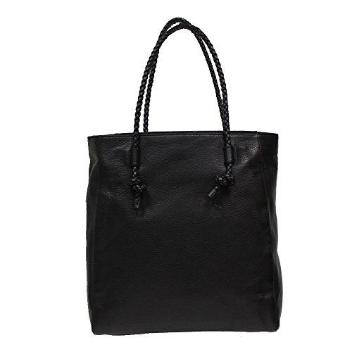 41XNpgmCb9L Gucci Dollar Calf Black Leather Tote Bag Open Top Shoulder Handbag 341506 Measures 15 length x 5.5 width x 14 height inches Interlocking G detail, soft calf leather material, Interior zip pocket