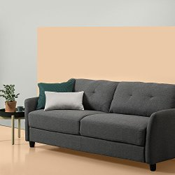 ZINUS Ricardo Sofa Couch / Tufted Cushions / Easy, Tool-Free Assembly, Dark Grey