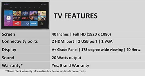 Kevin 102 cm (40 Inches) Full HD LED Smart TV KN40001A (Black) 4
