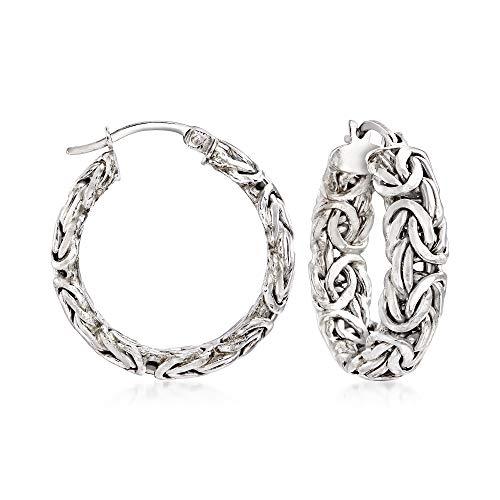 Byzantine hoop earrings