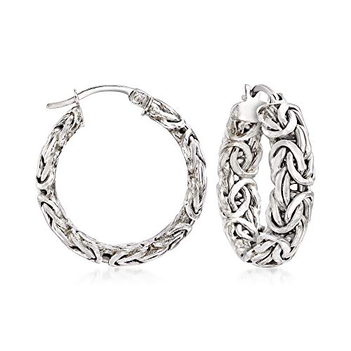 Byzantine hoop earrings
