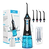 Cordless Water Flosser Oral Irrigator, XPretty Professional Portable and Rechargeable Dental Water Flossing, IPX7 Waterproof 3 Mode Teeth Cleaner with 4 Jet Tips for Home and Travel, Braces Care