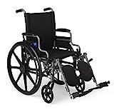 Medline Lightweight & User-Friendly Wheelchair With Flip-Back, Desk-Length Arms & Elevating Leg Rests for...