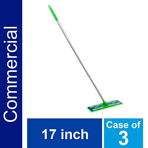P&G Professional Heavy Duty Sweeper Mop by Swiffer Professional, 17-inch Wide Duster, Ideal for Industrial or Commercial use on Hardwood, Tile or for Hand Dusting (Case of 3) - 10037000371080