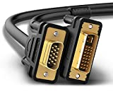 UGREEN DVI to VGA Cable DVI I 24+5 Male to VGA HD 15Pin Male Adapter Dual Link Video Cable Support 1080P Full HD from Laptop, PC Host, Graphics Card to Monitor Display or Projector - Black 5FT