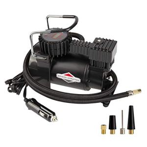 BriggsStratton Tire Inflator Car Tire Pump Portable Air Compressor with Digital Pressure Gauge 120 PSI 12V DC with 4… 41Xa 2BG46PBL