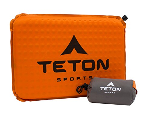 TETON Sports ComfortLite Self-Inflating Seat Cushion and Storage Bag; Never Sit on a Hard Bench Again; Lightweight, Portable Mat; Throw it in Your Bag, Take it Anywhere; Watch the Game in Comfort