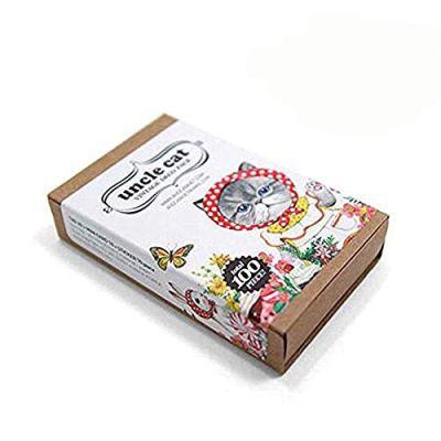 Cat Sticker Bookmark Gift Card 100pcs Set Sheets Decal Label Cat Collection forChildren, Teacher, Parent, Grandparent, Kids, Craft, School, Planners & Scrapbooking (Cat)