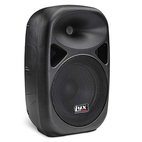 LyxPro SPA-10 10' Inch Portable Professional PA Speaker Powered Active Compact Lightweight Loud Amplifier System with Equalizer, Built-in Bluetooth, SD Card Slot, USB, MP3, XLR, 1/4',3.5mm Input